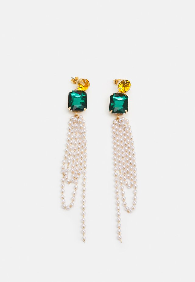 PCPEGGY EARRINGS - Kolczyki - gold-coloured/yellow/green