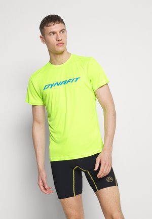 TRAVERSE TEE - Print T-shirt - fluo yellow