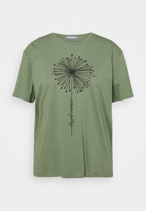 T-shirt med print - green