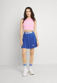 Missguided - PLAYBOY SPORTS RACER CROP - Top - pink - 1