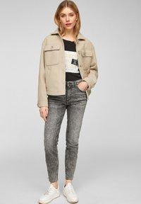Q/S designed by - Summer jacket - beige - 1