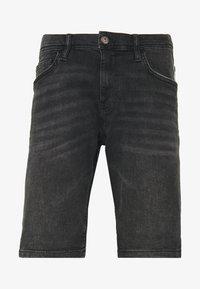 Denim shorts - black dark wash