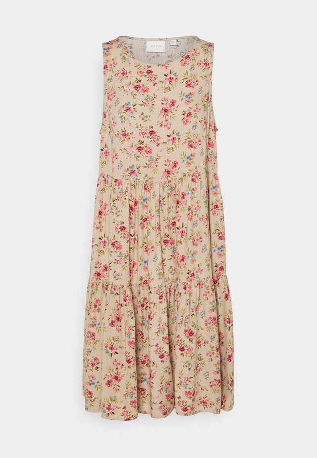 VICARE LAYER DRESS - Day dress - nude