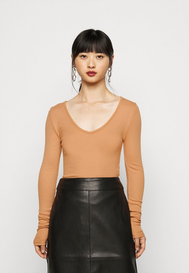 MACARON V NECK BODYSUIT 2PACK - T-shirt à manches longues - black/purple