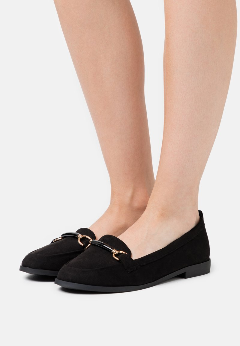 Dorothy Perkins Wide Fit - WIDE FIT LOON SNAFFLE LOAFER - Slip-ons - black