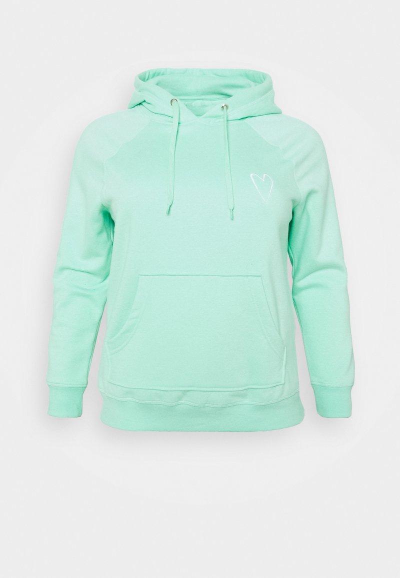 Simply Be - EMBROIDERED HOODIE - Sweatshirt - mint