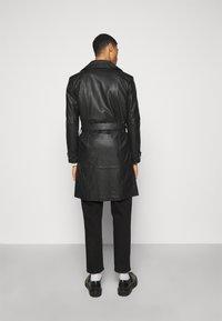 STUDIO ID - CHRISTIAN LEATHER COAT - Leather jacket - black - 2