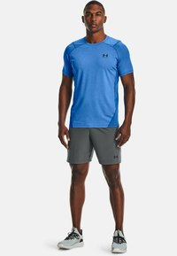Under Armour - ARMOUR FITTED - Print T-shirt - brilliant blue light heather - 1