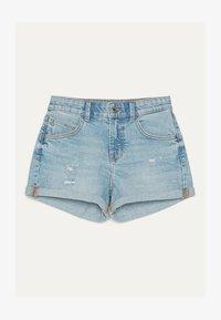 Bershka - DENIM-SHORTS MIT SAUMAUFSCHLAG 02596211 - Denim shorts - blue - 4
