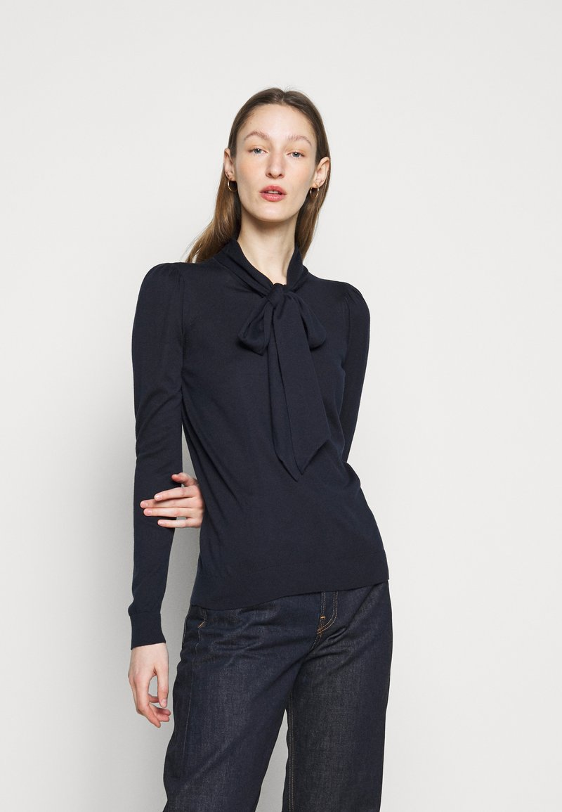 Lauren Ralph Lauren - TIE NECK - Jumper - navy