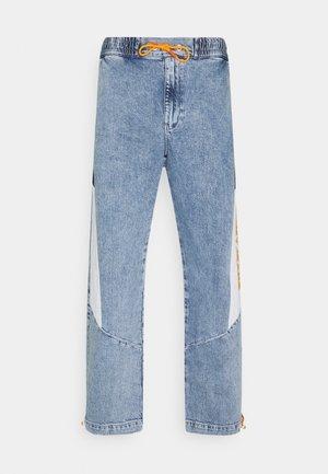 LOOSE ELASTICTD WINDPANTS - Relaxed fit jeans - light-blue denim