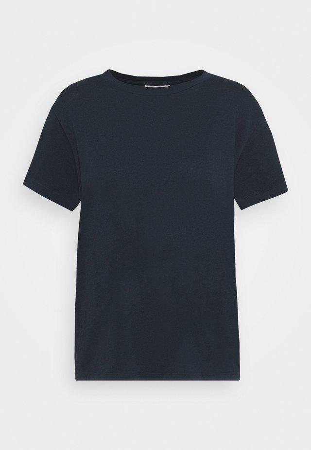 SHORT SLEEVE ROUND NECK - Camiseta básica - dark night