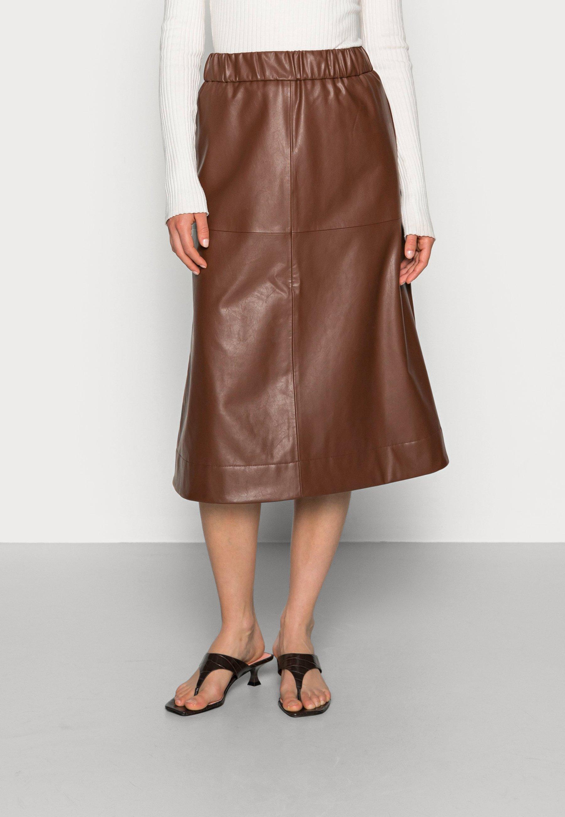 Femme SKIRT - Jupe en cuir