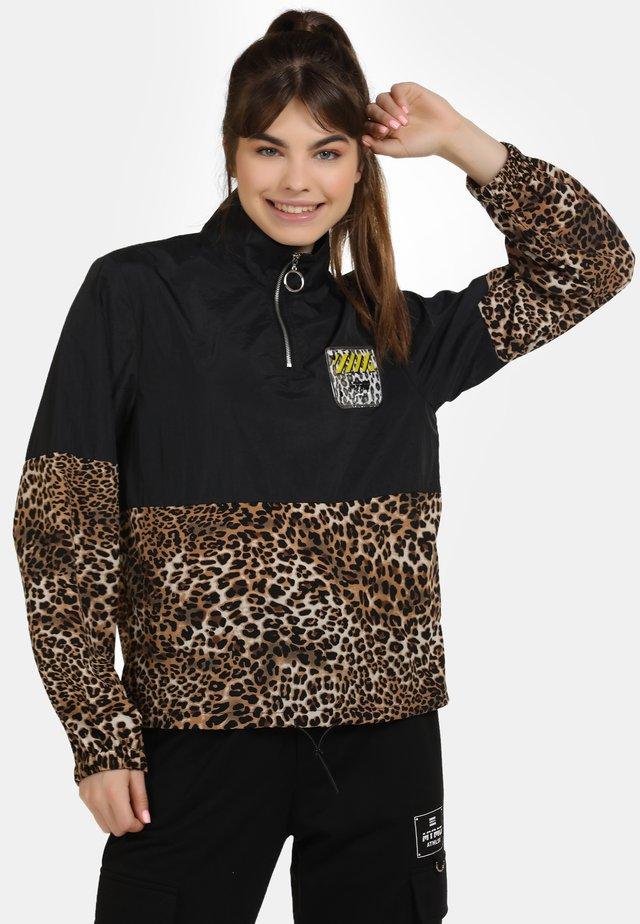 Windbreaker - schwarz beige leo