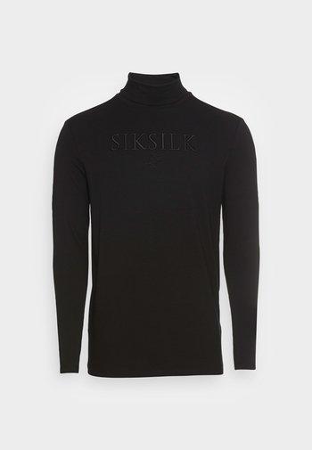 TURTLE NECK GYM TEE - Maglietta a manica lunga - black