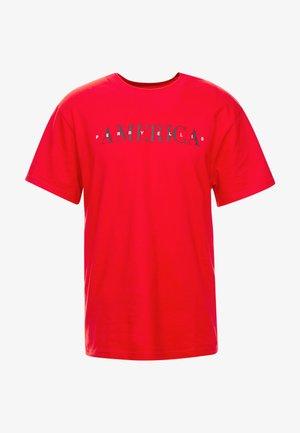 Print T-shirt - haute red