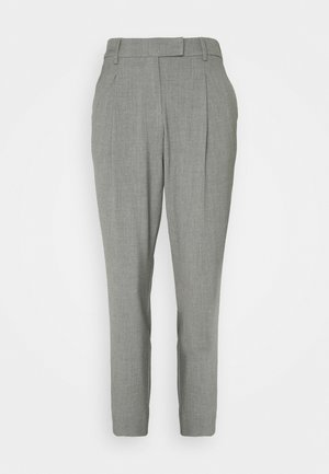 PANTS PLEATED - Kalhoty - smoked pearl grey melange