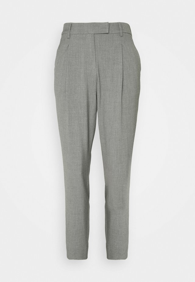 PANTS PLEATED - Trousers - smoked pearl grey melange
