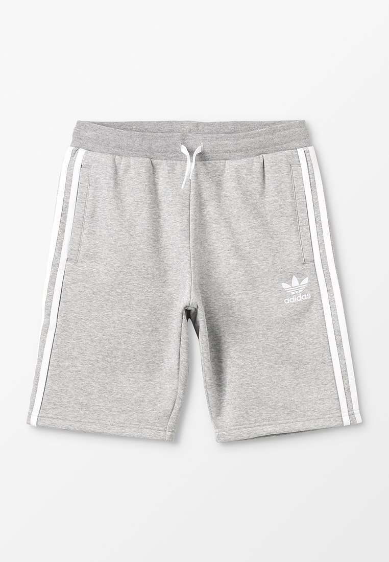 adidas Originals - Kraťasy - medium grey heather/white