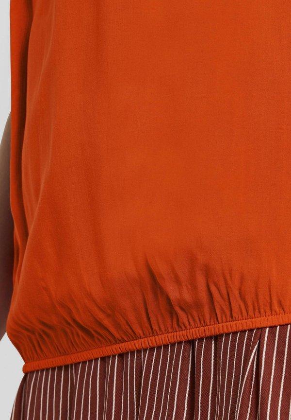 TOM TAILOR Bluzka - strong flame orange/pomarańczowy YDQE