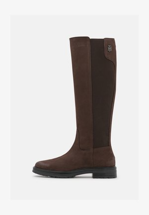 STUD LONGBOOT - Boots - cocoa