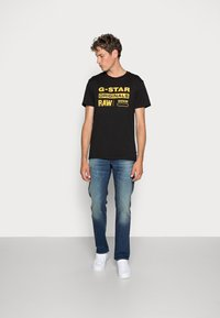 G-Star - 3301 STRAIGHT FIT - Straight leg jeans - joane stretch denim - worker blue faded - 1