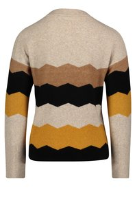 Betty & Co - MIT INTARSIE - Jumper - cream/yellow - 1