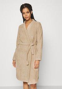 Anna Field - TERRY BATHROBE  - Dressing gown - beige - 0