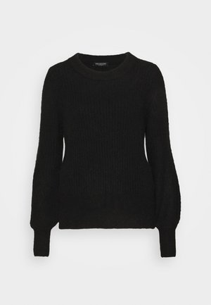 NEW O NECK - Sweter - black