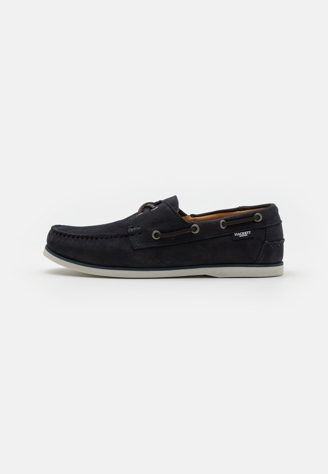 ALDENEY DECK - Boat shoes - navy