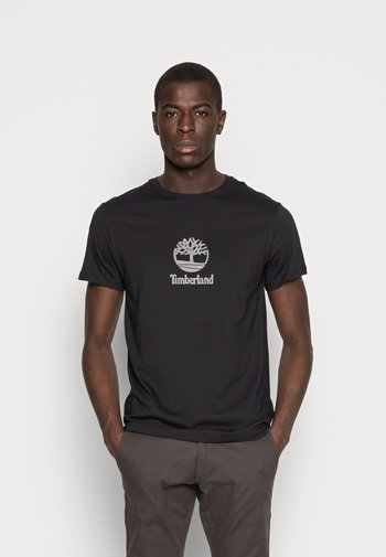 STACK LOGO TEE - Print T-shirt - black