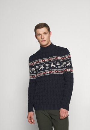 SLHOHMYDEER HIGH NECK - Jumper - sky captain