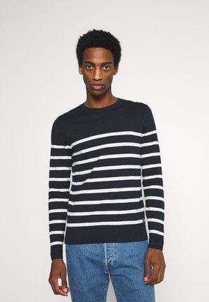 STRIPED - Pullover - blue/white