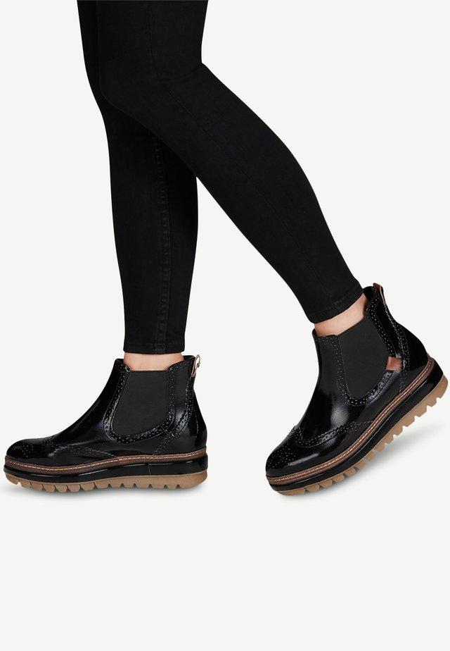 Ankelboots - black patent
