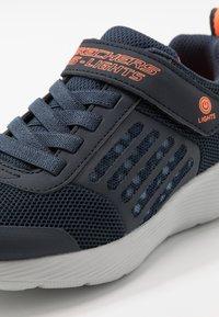 Skechers - DYNA-LIGHTS - Trainers - navy/orange - 5
