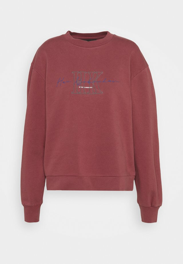 BULKY CREW - Sweater - faded dark red