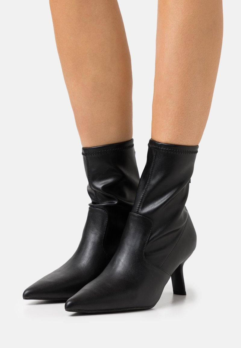 Topshop - MEMO POINT SOCK BOOT - Classic ankle boots - black