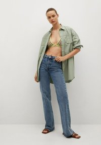 Mango - Button-down blouse - groen - 1