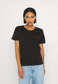 Tommy Jeans - SOFT TEE 2 PACK - Print T-shirt - black/black - 1
