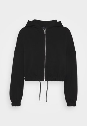 ONLSCARLETT HOOD ZIP - veste en sweat zippée - black