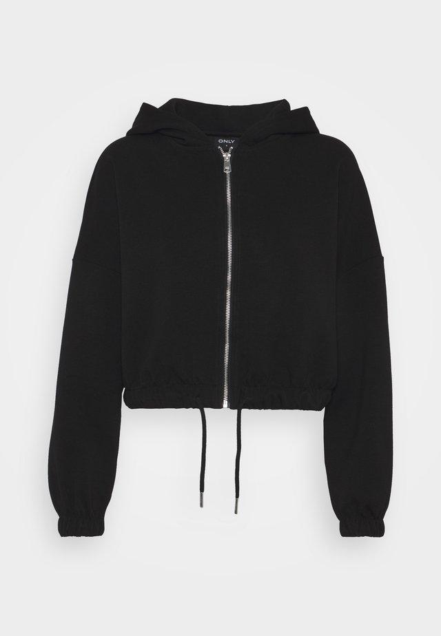 ONLSCARLETT HOOD ZIP - veste en sweat zippée - black