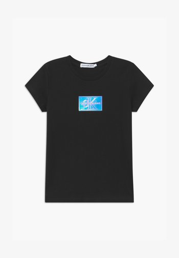 MONOGRAM BADGE  - Print T-shirt - black