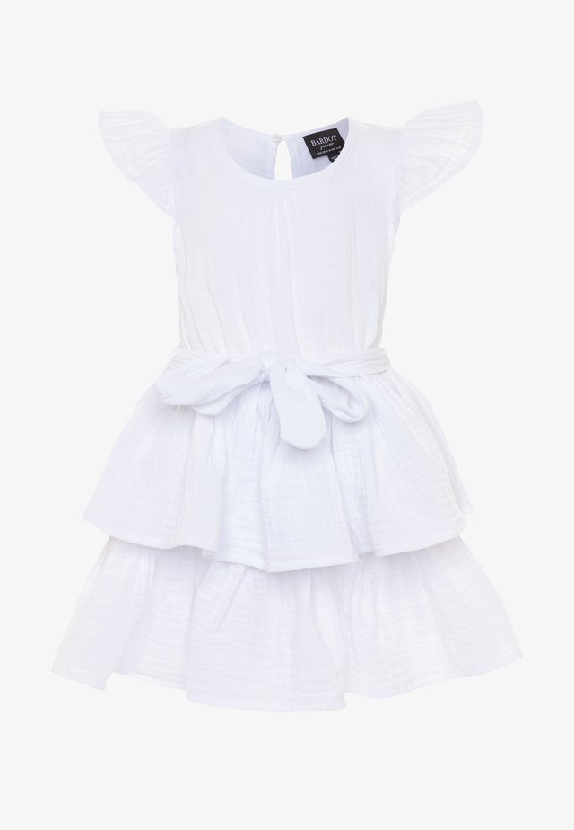 EDNA RUFFLE DRESS - Cocktailjurk - ivory