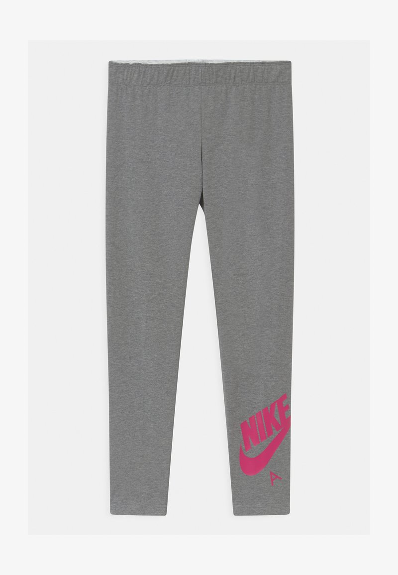 Nike Sportswear - FAVORITES - Legging - carbon heather/fireberry