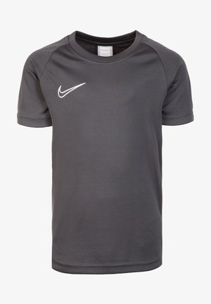 ACADEMY - Print T-shirt - anthracite/white