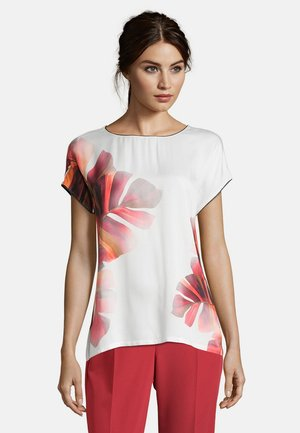 Blouse - cream/red