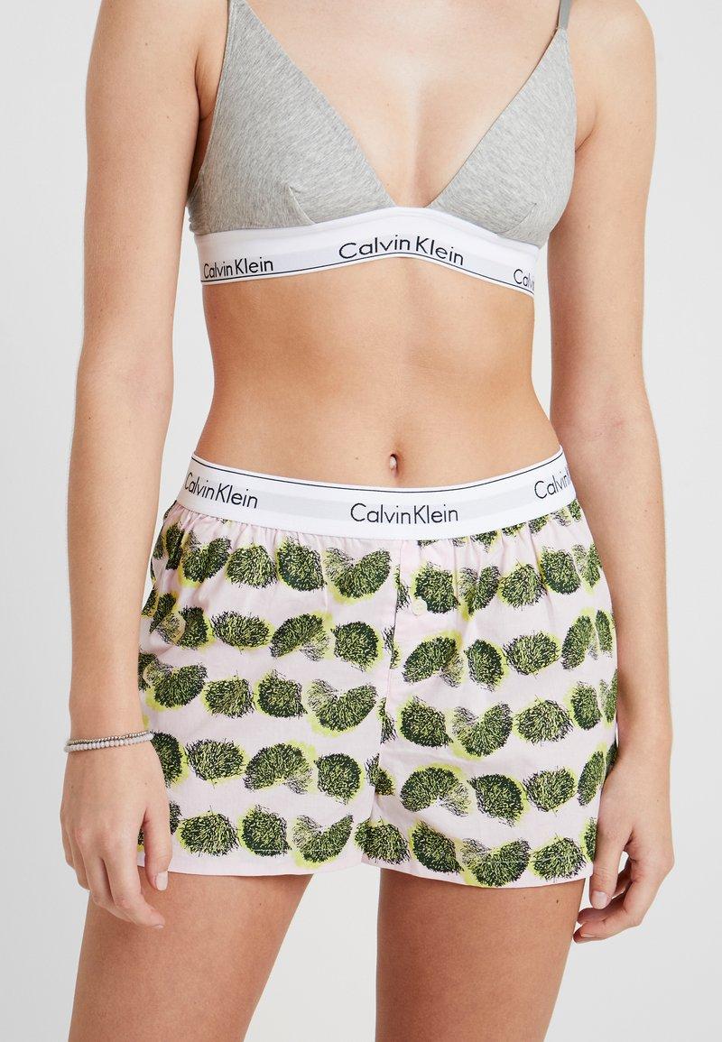 Calvin Klein Underwear - SLEEP SHORT - Pyjama bottoms - light pink/green/yellow