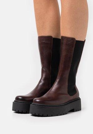 BIADEB  - Platform boots - dark brown