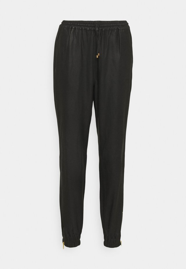 PANTS - Nahkahousut - black