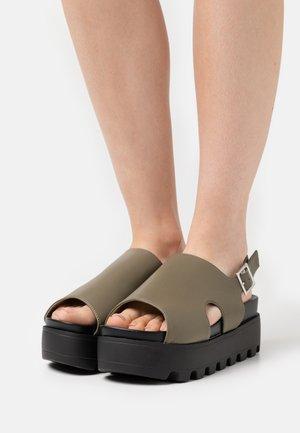 DANA - Platform sandals - khaki